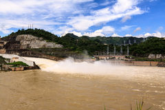 Hydroelectric powerplant. At Hoa Binh province, north Vietnam Royalty Free Stock Photos