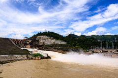 Hydroelectric powerplant. At Hoa Binh province, north Vietnam Royalty Free Stock Photography