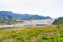 Hydroelectric powerplant. At Hoa Binh province, north Vietnam Stock Photos