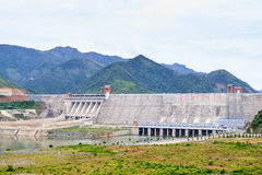 Hydroelectric powerplant. At Hoa Binh province, north Vietnam Stock Images