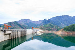 Hydroelectric powerplant. At Hoa Binh province, north Vietnam Royalty Free Stock Photo