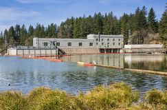 Hydroelectric station of Clakamas county Oregon stock image