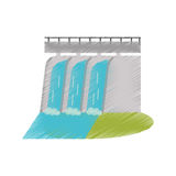Hydroelectric station plant water dam ed Stock Photography