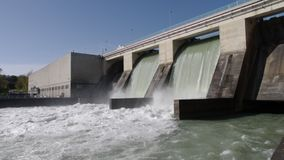 Hydroelectric station stock footage