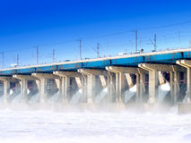 Hydroelectric stations Royalty Free Stock Photos