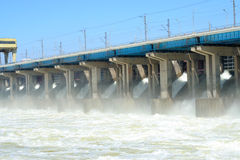 Hydroelectric stations Stock Photos