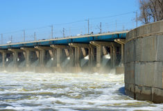 Hydroelectric stations Stock Photo