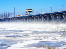 Hydroelectric stations Stock Image