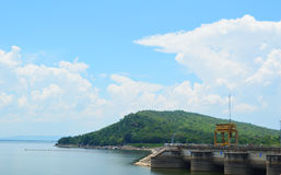 Hydroelectric  thailand. Hydroelectric dam,blue sky Ubolrat thailand Stock Images