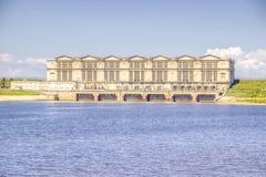 Hydroelectric  Volga Rybinsk Royalty Free Stock Photography