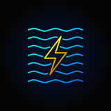 Hydroelectricity minimal colorful icon Stock Image