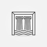 Hydroelectricity outline icon Royalty Free Stock Photography