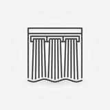 Hydroelectricity vector icon Stock Photos