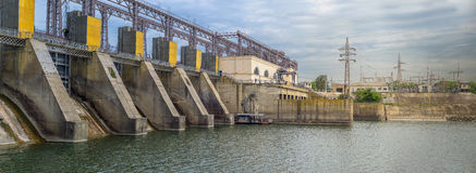Hydroelektrische centrale stock afbeelding