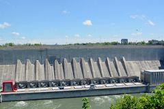Hydroelektrische Station Lewiston Lizenzfreies Stockfoto