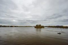 Hydroelektrische Station Uglich Stockfotografie
