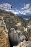 Hydroelektrische Triebwerkanlage im Bau Lizenzfreie Stockfotografie