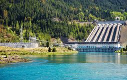 Hydroelektrische Verdammung, Neuseeland Stockbild