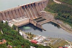 hydroelektrisk anläggningström Arkivfoton