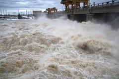 hydroelektrisk anläggningström Royaltyfri Fotografi