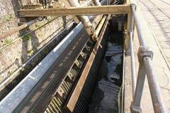 Hydroelektrisk anl?ggning i Trezzo, Italien royaltyfria foton