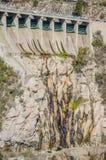 hydroelektrisk fördämning arkivfoto