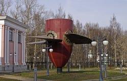 hydroelektrisk gammal turbin Arkivbild