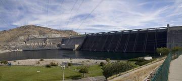 Hydroelektrisk plats för storslagen Coulee fördämning, Columbia River, Washington Arkivbilder