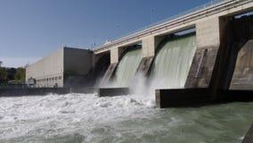 hydroelektrisk station Arkivbild
