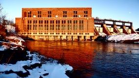 Hydroelektriskt centralt royaltyfria foton