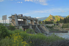 Hydroelektriskt Georgia arkivfoton