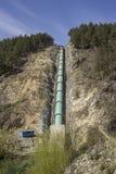 Hydroelektriskt rör (under konstruktion) royaltyfri bild