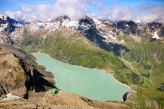 Hydroelektryczna elektrownia - Moserbooden tama Zdjęcia Stock