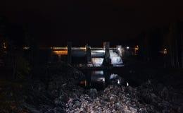 Hydroelektryczna stacja Imatra przy nocą Fotografia Royalty Free
