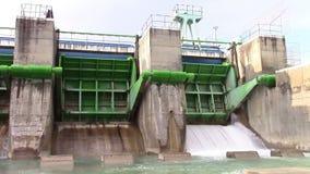 Hydroelektryczne tam bramy zbiory wideo