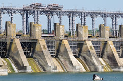 hydroelektrycznej rośliny władza pompujący magazyn zdjęcia royalty free