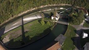 hydroelektrycznej rośliny władzy rzeka obrazy royalty free