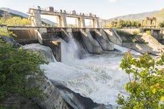 hydroelektrycznej władzy reset staci woda Zdjęcia Stock