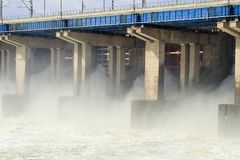 hydroelektrycznej władzy reset staci woda Obrazy Stock