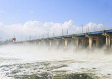 hydroelektrycznej władzy reset staci woda Obrazy Royalty Free
