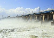 hydroelektrycznej władzy reset staci woda Obraz Royalty Free