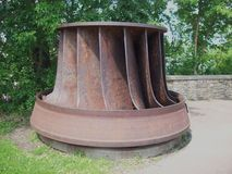 Hydroelkraftturbin Arkivfoto