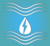 Hydroenergiesymbool Royalty-vrije Stock Afbeelding