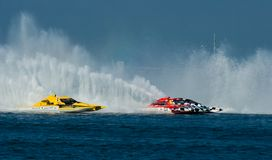 Hydrofest 2008. Speedboats Racing at Hyprofest Wildwood New Jersey October 8, 2008 Stock Image