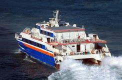 Hydrofoil boat Stock Image