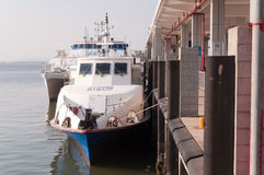 Hydrofoil boat Stock Photos