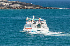 Hydrofoil boat Stock Images