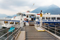 Hydrofoil ferry on Lake Como Royalty Free Stock Photography