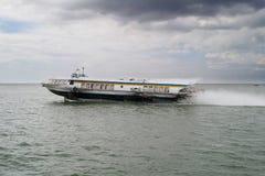 Hydrofoil going on Saigon River Stock Photography