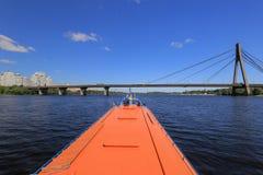 Hydrofoil passenger vessel Polissya-1 Royalty Free Stock Images